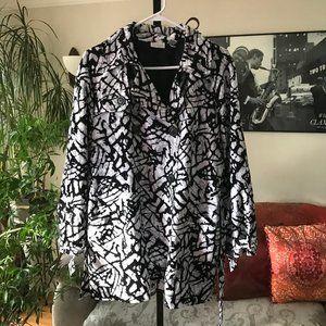 ZENERGY Black Gray & Silver Print Neema Jacket